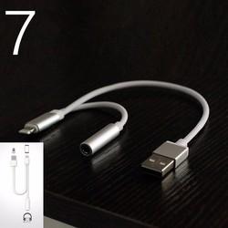 Cáp chuyển audio và cổng sạc USB