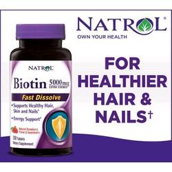 Thuốc Biotin ngăn rụng tóc tăng cường khỏe da và móng