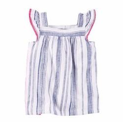 Áo tay cánh tiên vải linen Carter cho bé gái 1-4T A160C
