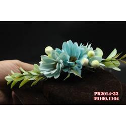 Hoa cài tóc cô dâu màu xanh , nhẹ nhàng , dễ thương
