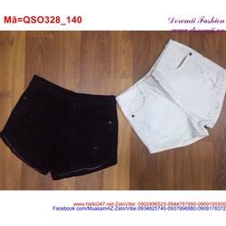 Quần short jean nữ đơn giản dễ phối đồ QSO328