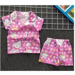 Bộ pijama mặc nhà in hình mèo kitty dễ thương NX978