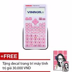 Máy tính Vinacal 570ES Plus II Hồng + Tặng 1 decal dán nắp