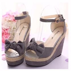 giày đế xuồng thắt nơ 2005