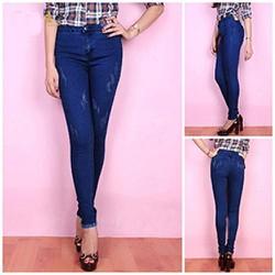Quần Jeans Nữ Chữ