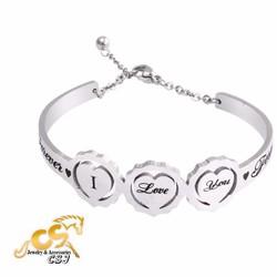 Vòng tay inox nữ chữ i love you - Trang sức inox đẹp giá rẻ