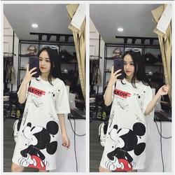 Đầm suông chuột Mickey siêu kute