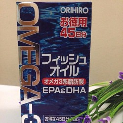 Viên dầu cá Om.ega 3 Orihiro Nhật Bản hộp 180 viên