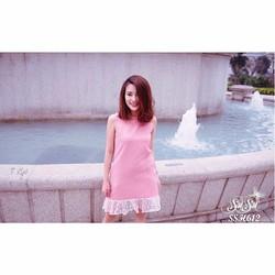 SuSu Shop - Đầm suông phối ren - SSH612