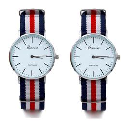 Combo đồng hồ Geneva dây vải
