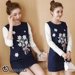 Đầm suông thêu hoa cao cấp - hàng nhập Quảng Châu