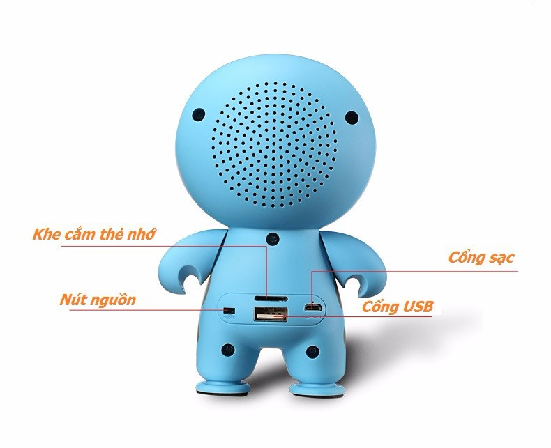 Loa Bluetooth Mini Cầm tay Big Hero Speaker PKCB-A9 2