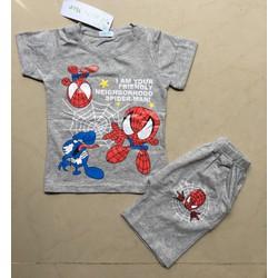 Bộ thun bé trai hình siêu nhân nhện từ 9-22kg