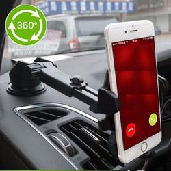 Giá đỡ điện thoại trên Ô tô, Mặt phẳng kính, có đế hút chân không