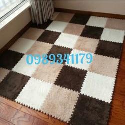 Thảm xốp lông ghép kích thước 30x30cm