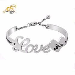 Vòng tay inox nữ hở chữ love - Trang sức inox đẹp giá rẻ