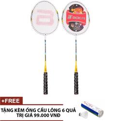 Cặp vợt cầu lông SL117 Tặng kèm Ống cầu 6 quả