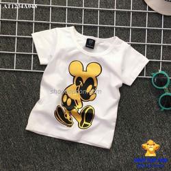 Áo thun hình mickey màu trắng size 1-8