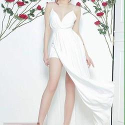 Đầm Maxi 2 Dây Xẻ Tà Kèm Quần Bên Trong