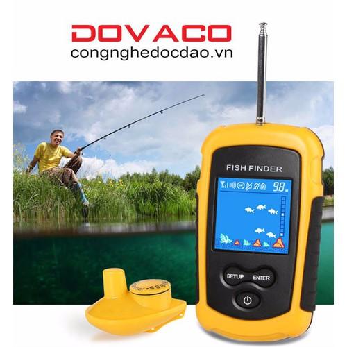 Máy dò tìm cá DOVA sóng âm không dây cao cấp