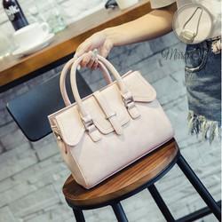 Túi xách tay nữ màu hồng sang trọng kiểu dáng Hàn Quốc