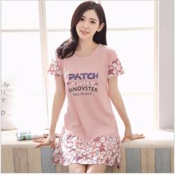 Đầm cotton hè nữ mặc nhà co giãn cao cấp - NG2225