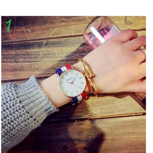 Đồng hồ nam Geneva dây vải