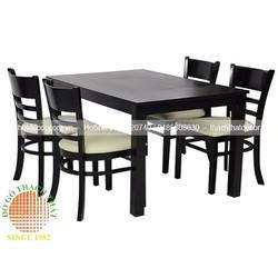 Bàn ghế ăn 4 ghế đẹp gỗ cao su