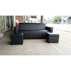Trọn bộ sofa đen huyền bí,sofa sang trọng ,tặng bàn