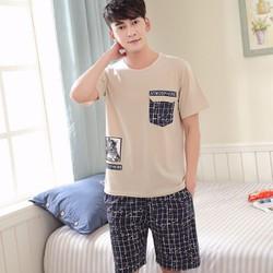 Bộ đồ hè nam mặc nhà  chất cotton co giãn cao cấp - N0141