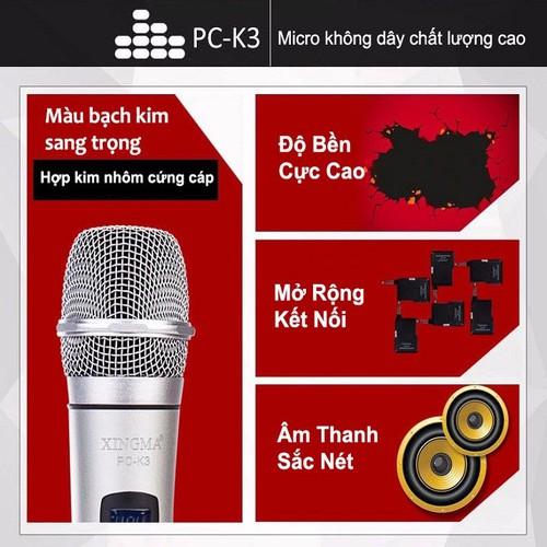 Micro Không Dây Xingma PC-K3 Bạc