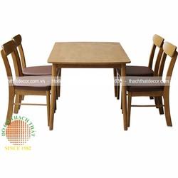 Bộ bàn ghế ăn 4 ghế gỗ cao su đẹp giá rẻ