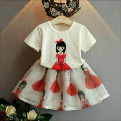 set áo thun váy họa tiết