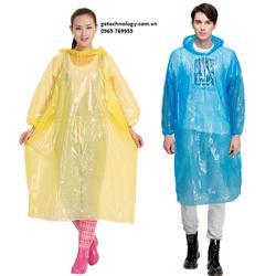 Bộ 3 Áo mưa NILON dùng 1 lần-giá rẻ, bán buôn bán lẻ trên toàn quốc