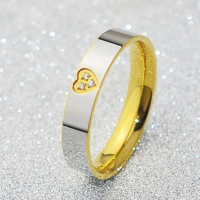 Nhẫn Titanium Không đen 2 Màu TT 0520 1
