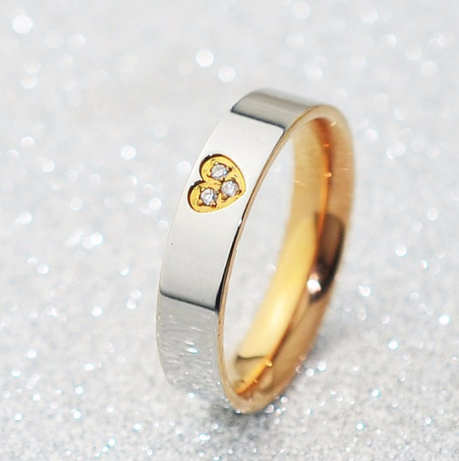 Nhẫn Titanium Không đen 2 Màu TT 0520 2