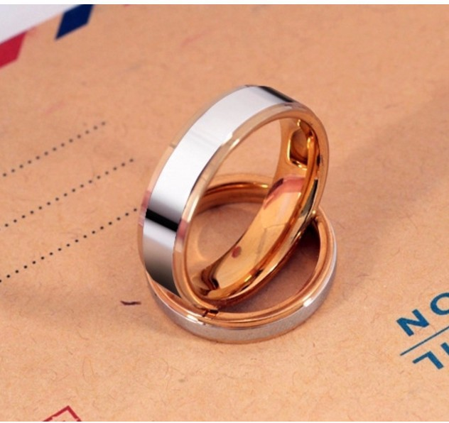 Nhẫn Titanium Không đen 2 Màu TT 0522 2