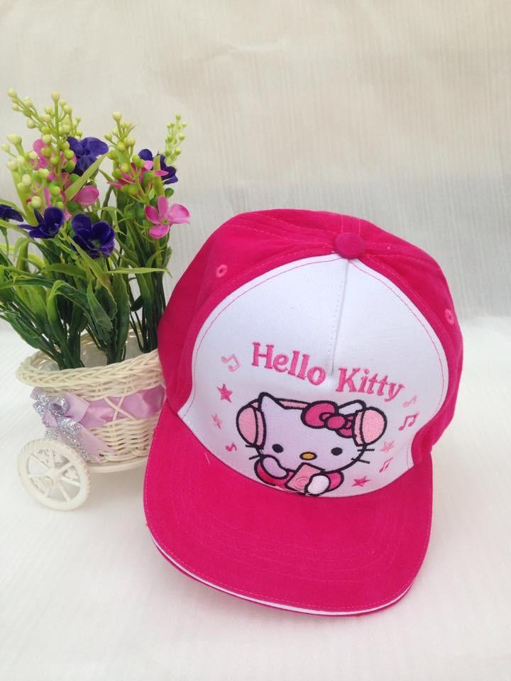 Nón Mũ lưỡi trai hình công chúa, Kitty, Mickey, Pony bé gái 3 - 7 tuổi 3