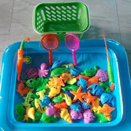 Bể phao câu cá cho bé yêu - Bộ câu cá 20 con