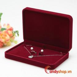 Hộp trang sức vải nhung đựng nguyên set - nguyên bộ candyshop88.vn