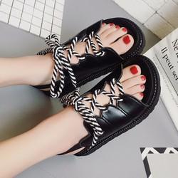 Giày Sandal Nữ chiến binh dây buộc thời trang cá tính - SG0401