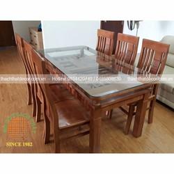 Bộ bàn ghế ăn 6 ghế gỗ sồi Nga đẹp