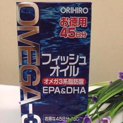 Viên dầu cá 0mega 3 Orihiro Nhật Bản hộp 180 viên