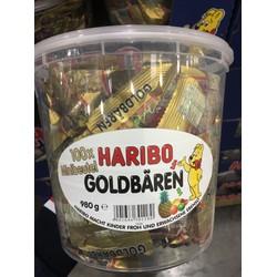 Kẹo dẻo gấu HARIBO nhập khẩu từ đức. 100gói gồm 980gam