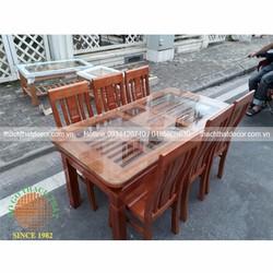 Bàn ghế ăn 6 ghế gỗ xoan bắc giá rẻ