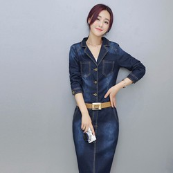 đầm jeans phối nút cá tính Mã: DA4845