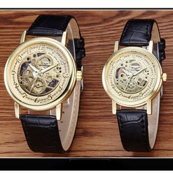 Đồng hồ đôi dây da Muge thời trang SP881A