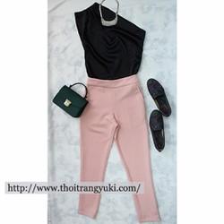 Set bộ áo 1 vai và quần ống túm - HT34