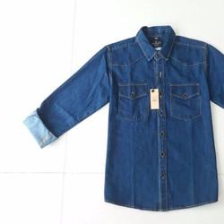 Sơ mi jean Demin 2 màu vải cực đẹp, hàng chất lượng