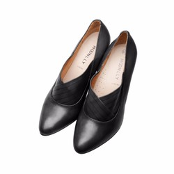Giày boot nữ lửng cao gót 7p